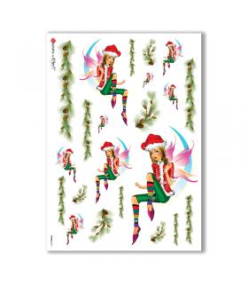 FAIRIES-0016. Rice Paper for decoupage fairies.