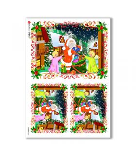 CHRISTMAS-0026. Carta di riso Natale per decoupage.