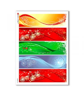 CHRISTMAS-0029. Carta di riso Natale per decoupage.