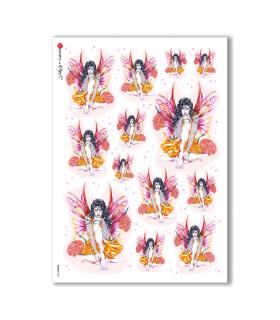 FAIRIES-0029. Rice Paper for decoupage fairies.
