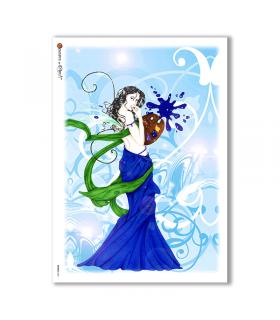 FAIRIES-0031. Rice Paper for decoupage fairies.