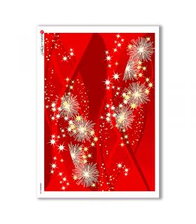 CHRISTMAS-0030. Carta di riso Natale per decoupage.