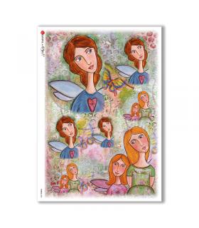 FAIRIES-0038. Rice Paper for decoupage fairies.