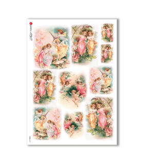 FAIRIES-0039. Carta di riso fate per decoupage.