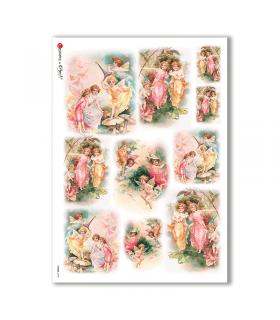 FAIRIES-0039. Rice Paper for decoupage fairies.