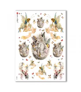 FAIRIES-0041. Rice Paper for decoupage fairies.