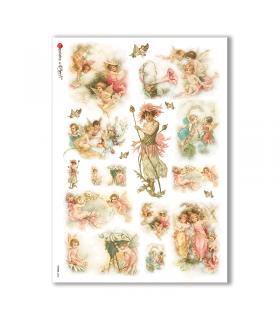 FAIRIES-0042. Rice Paper for decoupage fairies.