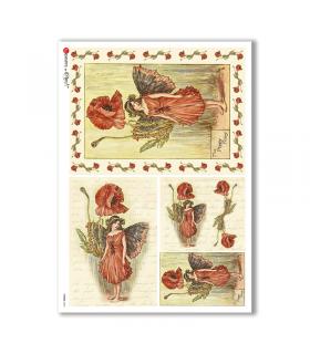 FAIRIES-0044. Rice Paper for decoupage fairies.