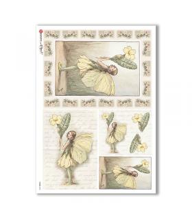 FAIRIES-0048. Rice Paper for decoupage fairies.