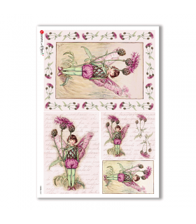 FAIRIES-0049. Carta di riso fate per decoupage.
