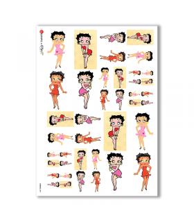 COMICS-0001. Carta di riso fumetti per decoupage.