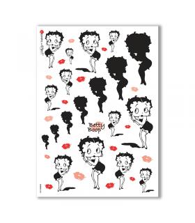 COMICS-0002. Carta di riso fumetti per decoupage.