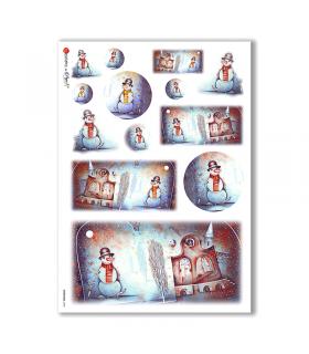 CHRISTMAS-0033. Papel de Arroz Navidad para decoupage.