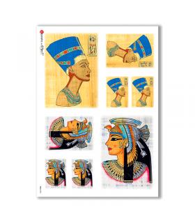 FOLK-0003. Carta di riso etniche per decoupage.