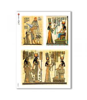 FOLK-0004. Carta di riso etniche per decoupage.