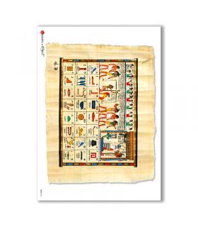 FOLK-0012. Carta di riso etniche per decoupage.