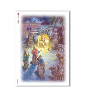 CHRISTMAS-0035. Carta di riso Natale per decoupage.