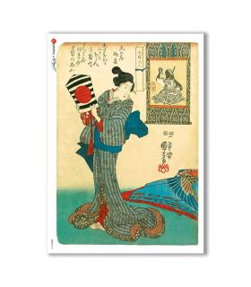 FOLK-0018. Carta di riso etniche per decoupage.