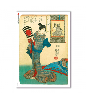FOLK-0018. Rice Paper ethnic for decoupage.