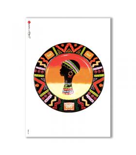 FOLK-0021. Carta di riso etniche per decoupage.