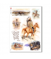 FOLK-0037. Carta di riso etniche per decoupage.