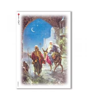 CHRISTMAS-0038. Carta di riso Natale per decoupage.