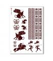 FOLK-0049. Carta di riso etniche per decoupage.