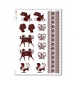 FOLK-0050. Carta di riso etniche per decoupage.