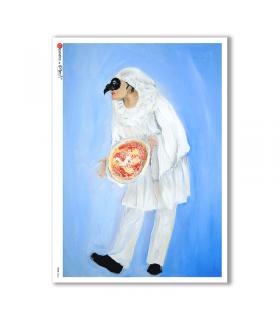 FOLK-0062. Carta di riso etniche per decoupage.