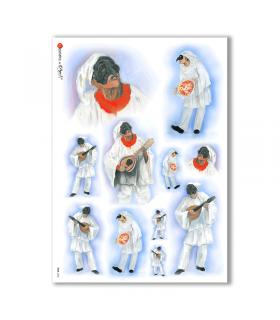 FOLK-0063. Carta di riso etniche per decoupage.