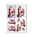 FOLK-0068. Carta di riso etniche per decoupage.