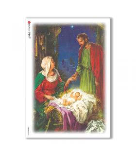 CHRISTMAS-0041. Carta di riso Natale per decoupage.