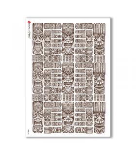 FOLK-0072. Carta di riso etniche per decoupage.