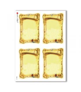 FRAME-0012. Rice Paper frame for decoupage.