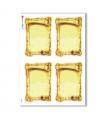 FRAME-0012. Carta di riso cornici per decoupage.