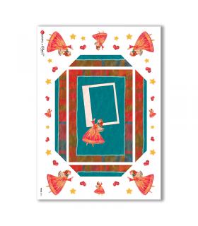 FRAME-0016. Rice Paper frame for decoupage.