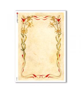 FRAME-0020. Carta di riso cornici per decoupage.