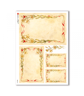 FRAME-0021. Rice Paper frame for decoupage.