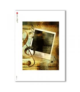 ALBUM-L-0014. Papel de Arroz album para decoupage.