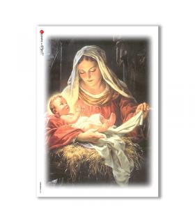 CHRISTMAS-0044. Carta di riso Natale per decoupage.