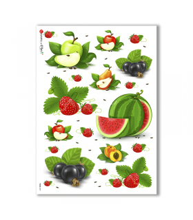 FOOD-0007. Carta di riso cucina per decoupage.