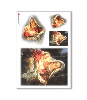 CHRISTMAS-0045. Papel de Arroz Navidad para decoupage.
