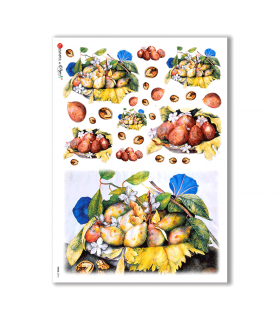 FOOD-0015. Carta di riso cucina per decoupage.