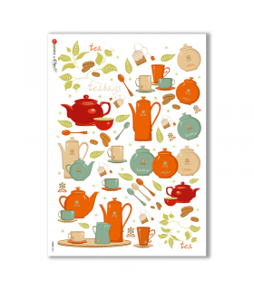 FOOD-0023. Carta di riso cucina per decoupage.