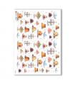 FOOD-0025. Carta di riso cucina per decoupage.