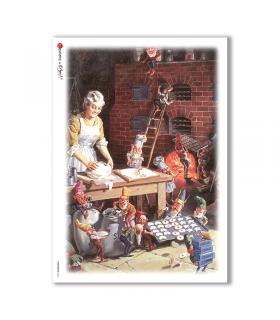 CHRISTMAS-0047. Carta di riso Natale per decoupage.