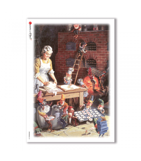 CHRISTMAS-0047. Papel de Arroz Navidad para decoupage.