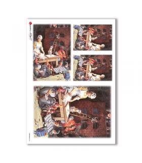 CHRISTMAS-0048. Carta di riso Natale per decoupage.