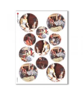 CHRISTMAS-0049. Carta di riso Natale per decoupage.