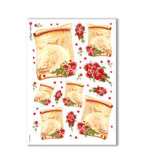 HOLIDAY-0006. Carta di riso festività per decoupage.